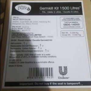 Unilever pureit Germkill kit 1500 liters